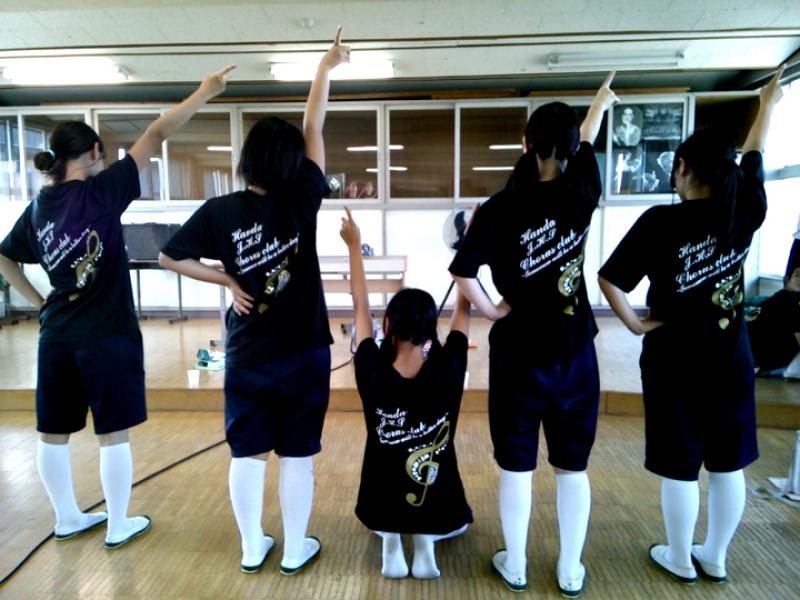 【事例】愛知県中学校の合唱部Tシャツ