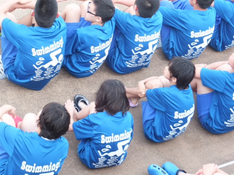 【製作事例】いわき市立中学校 水泳部様 部活Tシャツ